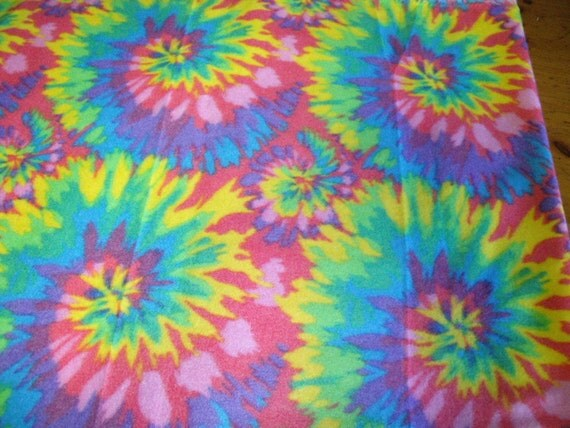 1 Set of Rainbow Tie Dye Print Seat Covers and the  Steering Wheel Cover  Custom Made.