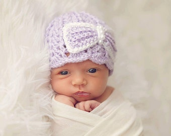Newborn Girl Hat Baby girl photo outfit Newborn Photo Prop infant girl Hat with a  Flower bow baby girl outfit
