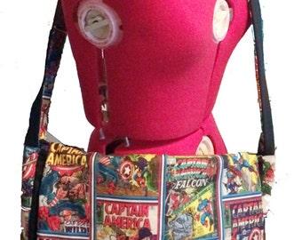 Captain America Messenger Bag, reversible, fully padded
