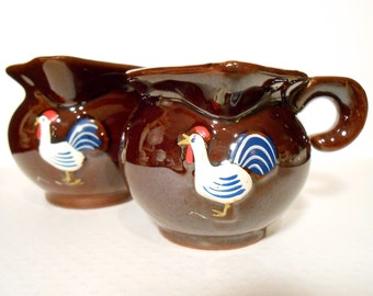 Redware Rooster Etsy