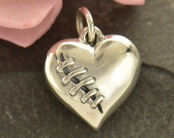 Sterling Silver Mended Heart Charm