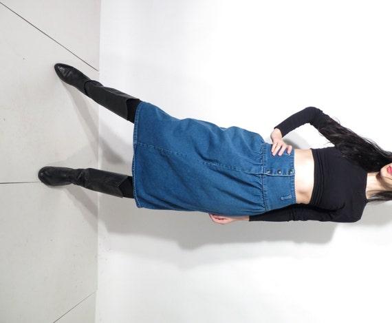 80 s blue denim skirt blue jean skirt high waist skirt