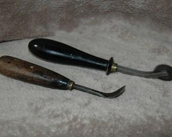 Vintage Saddle makers, Leather worker Tools