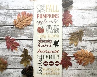 Fall Subway Art | Fall Decor | Fall | Autumn Decor | Farmhouse Fall | Fall Subway Sign