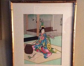 Geisha Watercolor Vivid colors