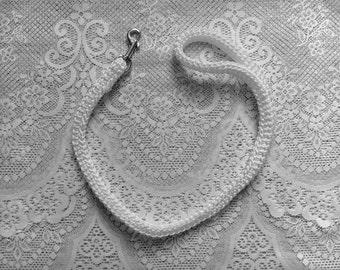 Wedding Dog Leash, Ring Bearer Wedding Dog Leash for Small Dogs  Pet Wedding Leash TWO FOOT LENGTH White WDL01