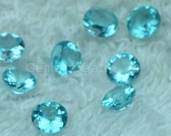 Lot of Stunning Natural Blue Apatite 5x5 MM Round FAceted Cut Loose Gemstone Calibrated
