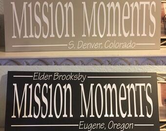 Mission Moments Plaque