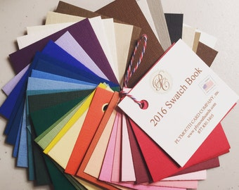Swatch book - over 35 colors - Photo Insert Cards (Photo Note Cards) - Recycled & made in the USA