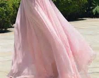 Bridesmaid Dress - Flowy Chiffon Maxi Skirt - Wedding Skirt - Womens Custom Skirt - Bridal Party Skirt - Maxi Skirt - Flowing Skirt