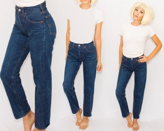 VTG 501 High Waisted Levi's  Jeans •Levis  button entry USA made •Tapered Leg • xs small / 28 x 28 ... 27 28 29