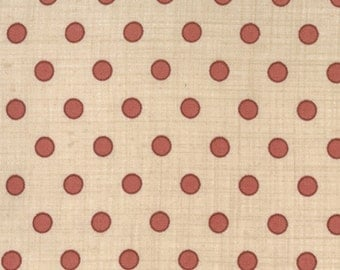 Red spot on cream quilting fabric 13563-13