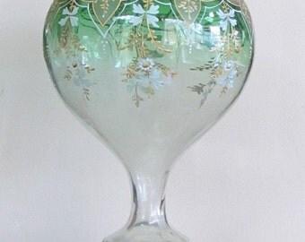 Moser Bohemian Vase Enameled Gilding c.1885