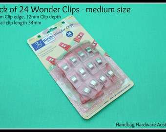 Wonderclips - Pack of 24 - Handbag Hardware Australia