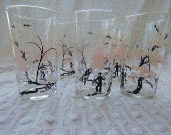 Vintage japanese juice glasses set of 5