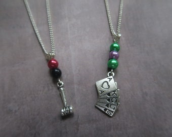 Harley quinn jewelry etsy for Harley quinn and joker jewelry