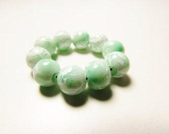 D-00927 - 10 Glass beads 8mm Mint