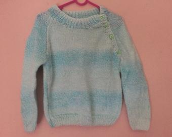 Blue and white boys jumper, boys jumper, boys sweater, knitted jumper, knitted sweater