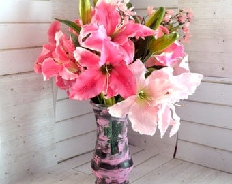 Flower Arrangement Centerpiece, Pink Flower Arrangement, Table Centerpiece, Pink Floral Arrangement, Pink Flowers