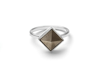 Pyrite Pyramid Ring