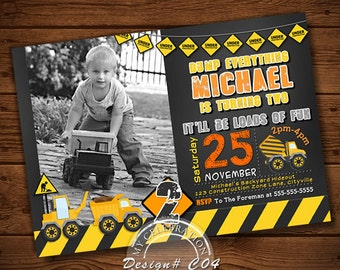 Dump Truck Birthday Invitation, Construction Birthday Invitation, Construction Party, Construction Birthday, Construction Invitation, Boys