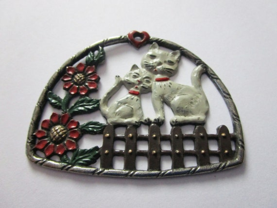 Vintage German cats ornament