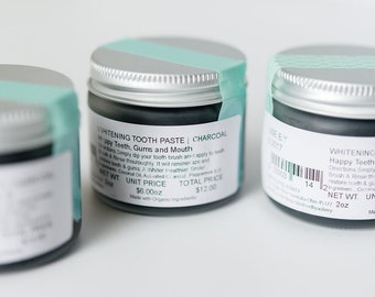 CHARCOAL TOOTH POLISH   Organic    Cleanse   Whiten   Brighten