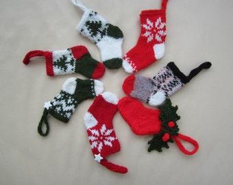 Little knitted Christmas stockings