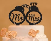 Handcuffs wedding cake topper - Mr. and Mrs. handcuffs wedding cake topper - police cake topper - handcuffs with diamond - handcuffs topper