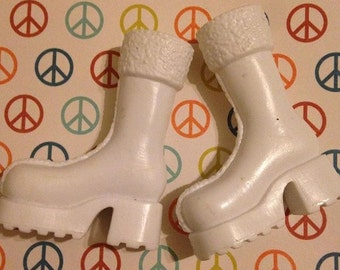 Replacement Bratz White Boots for upscale custom prop accessory