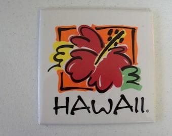 Hawaii The Aloha State Ceramic Tile Painting