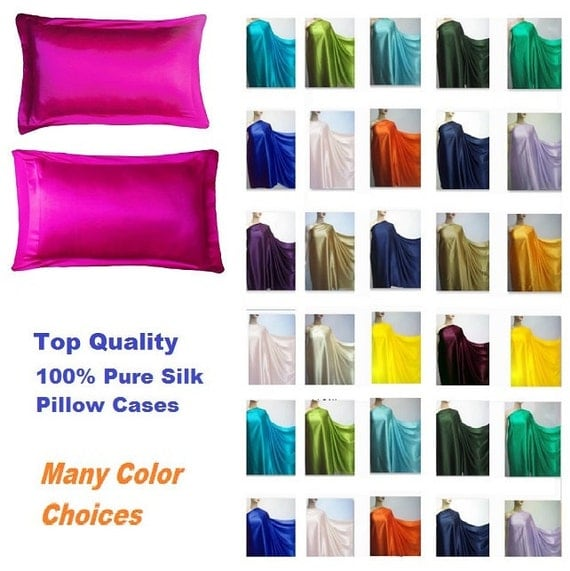 16momme 100 Silk Charmeuse Pillowcase Pure Mulberry Silk All