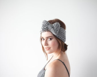 Crochet Pattern Bow Headband Ear Warmer PDF: The Hailey Headband