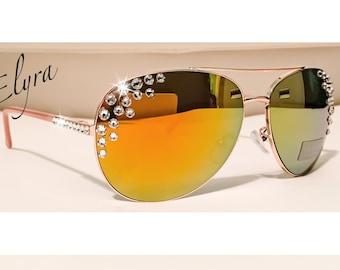 Swarovski Crystal TAHARI Sunglasses/Aviators