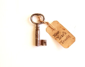 Unique Skeleton Key New Year tag old keys shabby chic wedding decor vintage key to my heart unique gifts lock key 175