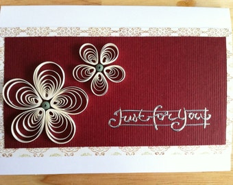Just for you - Quilled daisy card