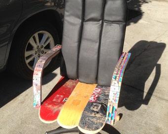 Skateboard executive office chair
