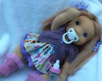"To order - Cerise natural handmade Waldorf doll (18"")"