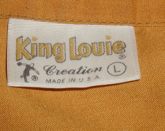 Vintage 1960s King Louie Bowling Team Shirt Size Large