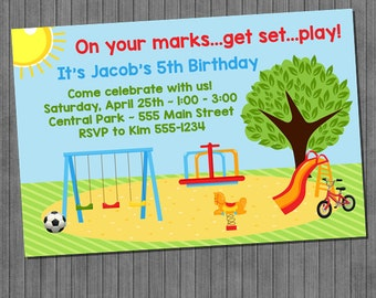 Park Birthday Invitation
