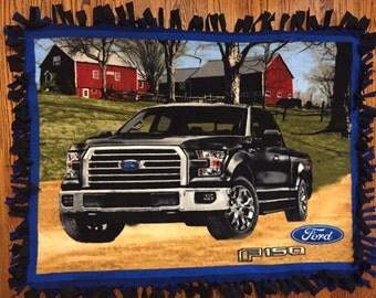 Ford Truck Fleece Tie Blanket