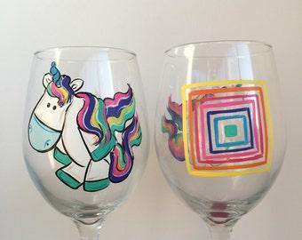 Unicorn Wine Glass - Unicorn Gift - Unicorn glass - Magical Gift