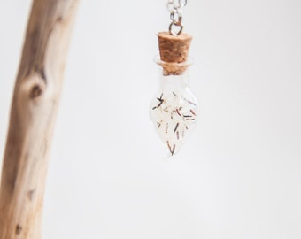 Real & wild dandelion pendant
