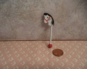 1:12 scale Dollhouse Stick/hobby horse
