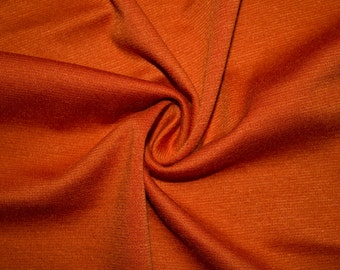 """Burnt Orange Ponte Di Roma Double Knit Polyester Spandex Lycra Stretch Medium Weight Apparel Craft Fabric 58""""-60"""" Wide By The Yard"""