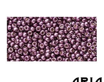 DURACOAT EGGPLANT (4220): 11/o Miyuki Japanese Seed Beads (10 grams)