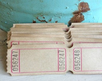 Blank Raffle Tickets - Coffee Dyed / Vintage / Rustic