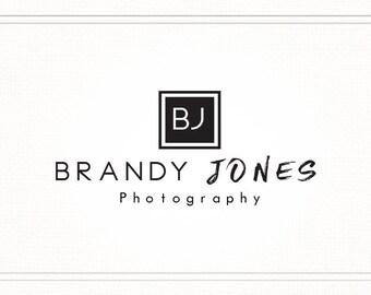 Premade Photography Logo, Logo Design, Premade Logo, Modern Black and White Logo, Initials Logo, Logo Brand, Monogram Logo, L080