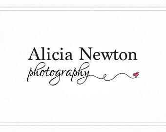 Photography Logo with Heart, Premade Photography Logo and Watermark, Logo Design, Premade Photography Watermark Logo and Signature, L086
