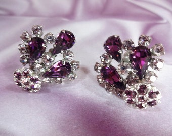 Crown Earrings Purple